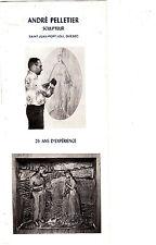 Andre Pelletier Sculptur Saint-Jean-Port-Joli Quebec Canada Vintage Art Brochure
