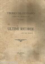 ROMA_ANTICO NECROLOGIO_DIARIO_OSTIA_UGENTO_MOLISE_LARINO_TIBERIO DE GENNARO_1927