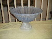 Lux Vetreria Blue White Swirled Glass Bowl Very Large Italian Glass Bowl