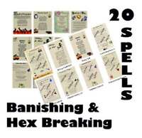 Huge Lot 20 Banishing Spells Real Wicca Book of Shadows Pages Pagan Witchcraft