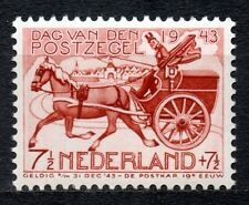 Netherlands - 1943 Stamp day / Coach Mi. 422 MNH