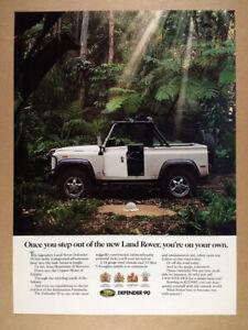 1994 Land Rover Defender 90 quicksand photo vintage print Ad