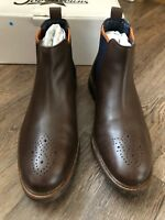 Joe Browns Part Brogue Chelsea Boot Uk 9 Brown