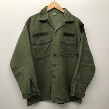 Vintage OG107 Fatigue Shirt, Size 16 1/2 x 34 US Army 1970's J-47