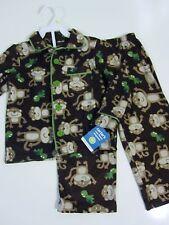 NEW Carter's Size 4T Pajama Set Fleece Brown Monkey Green Turtles