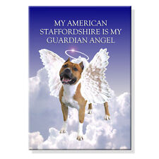 American Staffordshire Guardian Angel Fridge Magnet