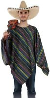 PONCHO Adulte MEXICAIN Luxe Déguisement Homme Femme Western NEUF