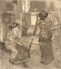 Degas Print Reproduction: At the Louvre (Mary & Lydia Cassatt), Fine Art Print