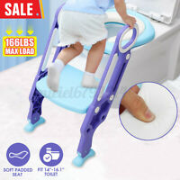 Baby Training Toilet Potty Trainer Seat Chair Toddler Ladder Step Up