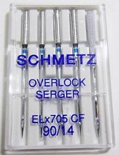 5 SCHMETZ NEEDLES OVERLOCK SERGER ELX705-CF #14 CHROME FINISH ELNA SERGER