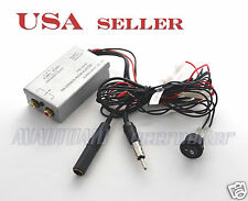 FM MODULATOR STEREO RADIO RCA AUX INPUT ADAPTER WIRED 3.5MM RCA TRANSMITTER
