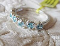 Paraiba Apatite, 925 Sterling Silver Heart Setting, size 6