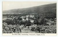 RPPC West Hill Vineyards NAPLES NY Finger Lakes Ontario Co Real Photo Postcard