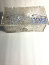 Clear Lucite Hinged Starburst Jewelry Trinket Sewing Box by Celebrity