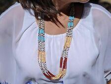 Santo Domingo Pueblo Heishi Beads Kewa 7 strands Necklace SouthWest Hand Made