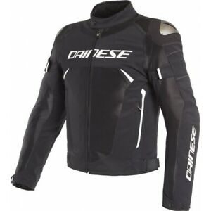 Motorcycle Jacket Dainese Dynamic D-Dry Black White Size 52