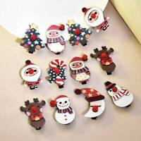 New Christmas Hair Clips Hairpin Baby Girls Arylic Hair Accessories 1Pc Random