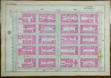 Vintage 1916 East Harlem Manhattan New York City Map ~ Central Park 5th Avenue