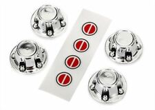 Traxxas 8176 Center Wheel Caps (Chrome) (4)/w/Decals (requires # TRA8255A)