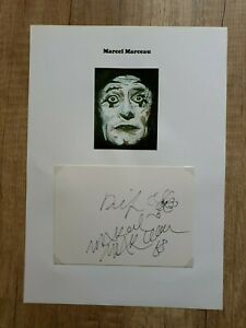 Marcel Marceau (Pantomime), verstorben - Wunderschönes Originalautogramm DIN-A-4