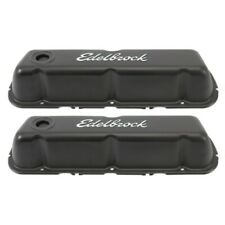 Edelbrock 4603 Signature Series Valve Covers Ford 260-289-302-351W V8 Black