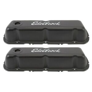 Edelbrock 4603 Signature Series Valve Covers Ford 260-289-302-351W V8 Black