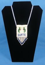 Guatemala Guatemalan Handmade Multicolor Beaded Medicine Bag Pouch Necklace