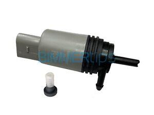 BMW E60 5 series Windshield Washer Pump Squirter W/ STRAINER Febi Bilstein
