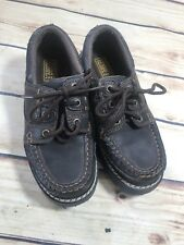 Toddler Boys Size 1.5 Faded Glory Dark Brown Slip On Loafer Casual Style Shoe
