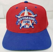 12e49496bb1 Vintage Ball Cap MLB All Star Game 1995 Texas Rangers Fitted Size 7 Red Blue