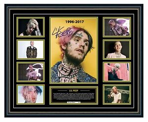 LIL PEEP TRIBUTE 1996-2017 SIGNED LIMITED EDITION FRAMED MEMORABILIA