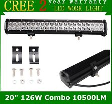 "20""inch 126W SUV Led Work Light Bar Flood Spot Offroad Driving 4WD Ford Truck"