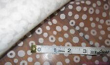 ONE YARD  OF PRETTY WHITE  ORGANZA  FABRIC  WITH FLOCKED CIRCLES