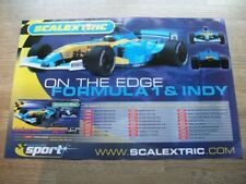 Scalextric - Formula 1 and Indy - press Advert - 12 x 18 inch SMALL POSTER SIZE
