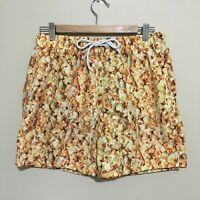 Popcorn Print Board Shorts Swim Surf Adult Mens Medium