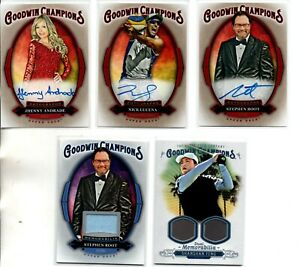 Lot of 5 2020 Goodwin Champions autograph and memorabilia cards