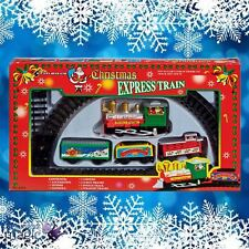 Battery Operated 9 Piece Christmas Express Train Set with 183cm Orbital Track