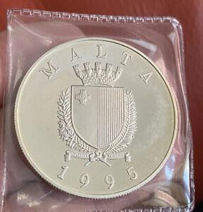 1995 Malta Silver Proof 5 Lira