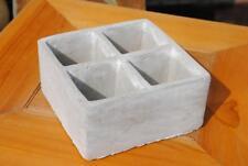 Übertöpfe,Keramik,zement-grau,für 4 Pflanzen,quadratisch,2er Set