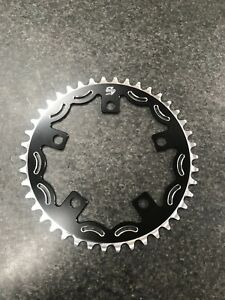 Snap BMX Products Series II 110mm 5 bolt Chainring - 42t Black