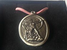"Diana Goddess code dr88 Made From English Pewter On 18"" Pink Cord Necklace"