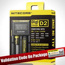 NITECORE New D2 LCD Display battery charger IMR/Li-ion/Ni-MH/Ni-Cd 18650/16340