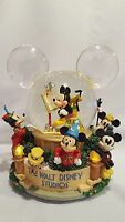 Rare Disney's Mickey Mouse Through the Years Musical Snow Globe