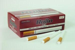 1200 ROLLO RED ULTRA SLIM EMPTY ROLLO TUBE Cigarrette Tobbacco Filter