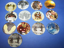 11th  Print  Set  10  Cent AAFES  Pogs 2008 printing AU. Condition  All 13 pogs
