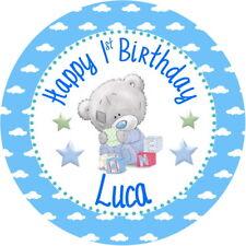 "7.5"" Tatty Teddy Birthday/Christening/Naming Day Edible Personalised Cake Topper"
