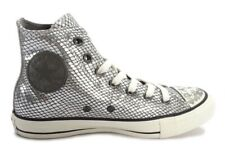 117a28aa20ee Converse Ct Hi Tops Leather Silver Snakeskin Effect 146596C Size UK 5 EUR  37.5