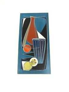 RARE 50S MID CENTURY MODERN COCKTAIL BAR WALL TILE BY RIESA ART VTG ABOUT 1950