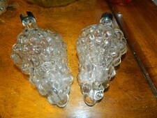 2 Vintage Grape Cluster Wine Bottle (s) Clear Glass - Made in Turkey decanters
