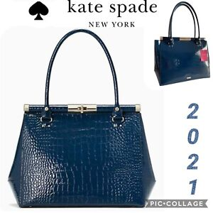NWT KATE SPADE Knightsbridge Constance Patent Croc Leather Tote Bag  $698